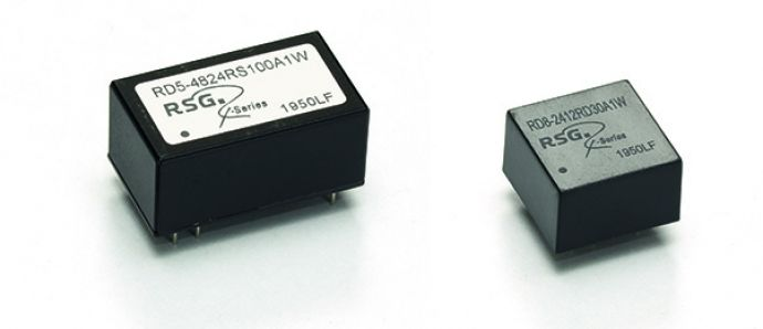 New extremely compact R-Series converters in DIP8 and DIP16 cases
