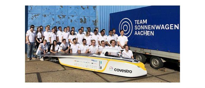 Aachener Team Sonnenwagen mit DC/DC-Wandlern von RSG durch Australien